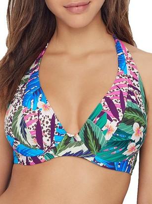 Sunsets Island Safari Muse Halter Bikini Top