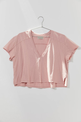 Urban Outfitters Quincy V-Neck High/Low Tee