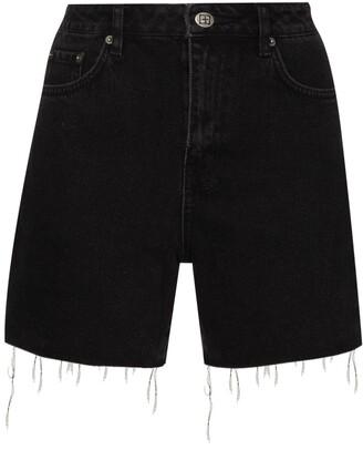 Ksubi High-Waist Denim Shorts