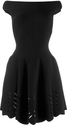 Alexander McQueen off the shoulder flared dress