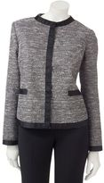 Sag Harbor lurex boucle jacket - petite