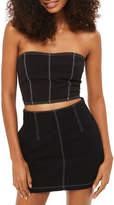 Topshop Stab Stitch Corset Top