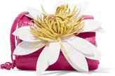 Nancy Gonzalez Floral-appliquéd crocodile shoulder bag