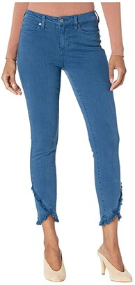 Liverpool Abby Crop Skinny Front Scallop in Tagine Blue (Tagine Blue) Women's Jeans