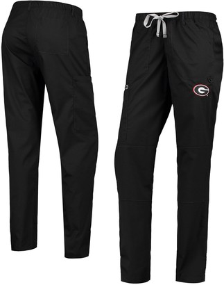 Women's Black Georgia Bulldogs Straight Leg Cargo Pants