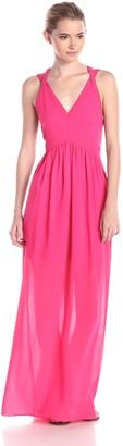 Adelyn Rae Women's Deep V-Neck Maxi Dress