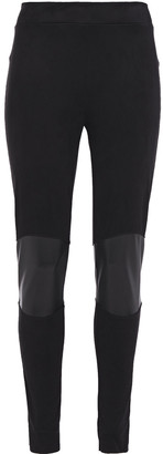 Wolford Paneled Faux Leather And Suede Leggings