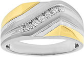 FINE JEWELRY Mens 1/4 CT. T.W. Diamond 10K Two-Tone Gold Ring