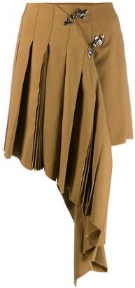 Rokh Asymmetric Pleat Skirt