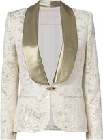 Redemption Gold Lurex Cloque Smoking Blazer