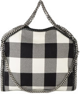 Stella McCartney small Falabella gingham tote - women - Wool/metal - One Size