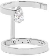 Repossi Serti Sur Vide 18-karat White Gold Diamond Ring - 52