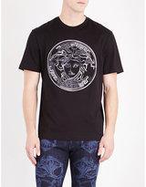 Versace Incomplete Medusa Cotton-jersey T-shirt