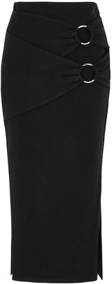 Jonathan Simkhai Black stretch-knit midi skirt