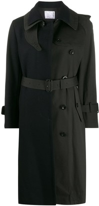 Sacai Contrast Trench Coat