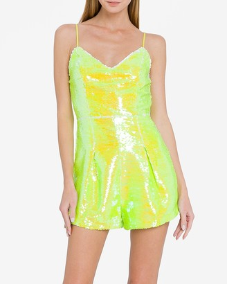 Express Endless Rose Neon Sequin Romper