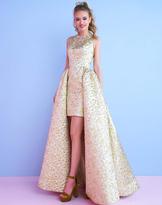 Mac Duggal Homecoming - 40694N Sleeveless Metallic Hi Low Dress