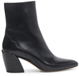 Chloé Laurena Leather Ankle Boots