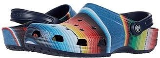 Crocs Classic Striped Clog (Multi/Navy) Clog Shoes