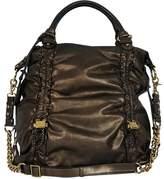 Badgley Mischka Bronze Leather Shoulder Bag