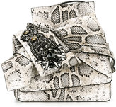 No.21 knotted snakeskin effect bag