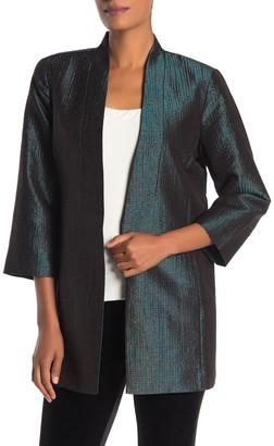 Eileen Fisher Jacquard 3/4 Sleeve Jacket