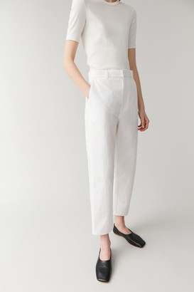 Cos Embroidered Dropped Crotch Cotton Pants