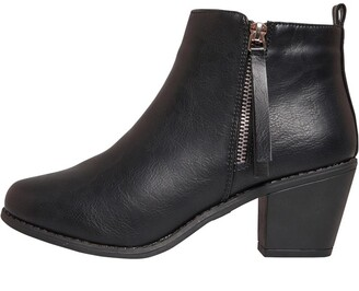 Fluid Womens Zip Ankle Boots Black