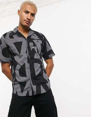 G Star G-Star Bristum all over print short sleeve shirt in black