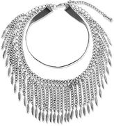 Steve Madden Chainlink and Leaf Collar Necklace