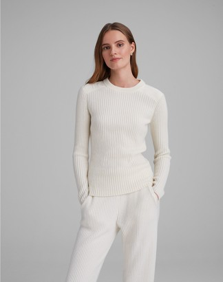 Club Monaco Woven Yolk Cashmere Sweater