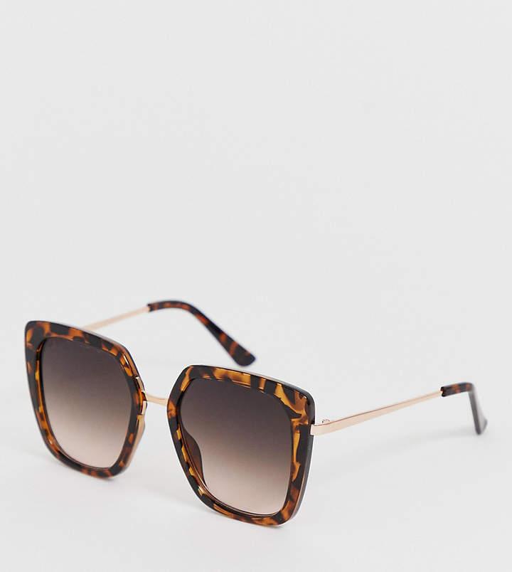 New Look oversized 70's sunglasses in dark brown