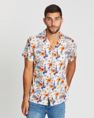Jack and Jones Aruba Resort AOP SS Shirt