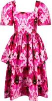Alexander McQueen Endangered Flower print ruffle dress