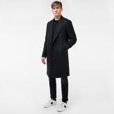 Paul Smith Men's Wool-Alpaca Blend Bouclé-Check Double-Breasted Overcoat