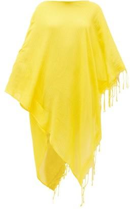 SU PARIS Syama Tasselled Cotton Kaftan - Yellow