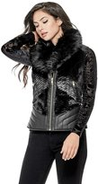 GUESS Women's Iris Faux-Fur Vest