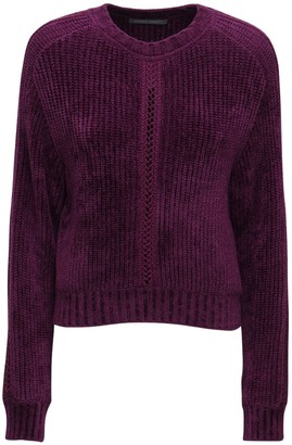 Alberta Ferretti Ribbed Chenille Sweater