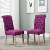 Tambellini Tufted Upholstered Parsons Chair in Purple Charlton Home