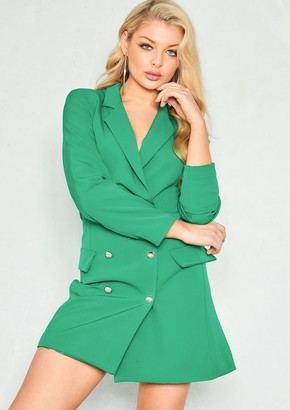 Ever New Carly Green Tuxedo Mini Dress