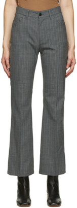 MM6 MAISON MARGIELA Grey Pinstripe Trousers