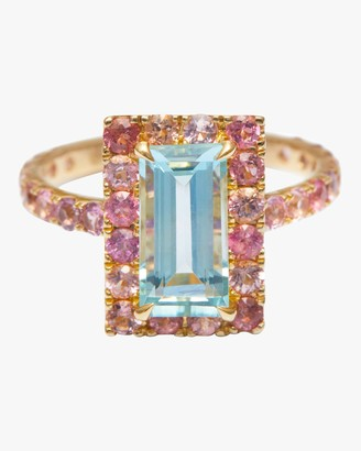 Yi Collection Aquamarine And Pink Tourmaline Candy Ring