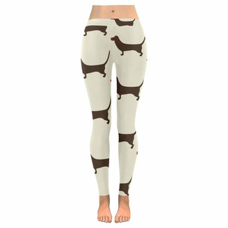 Quemin Mother's Day Yoga Pants for Women Funny Dog Custom Stretchy Capri Leggings Skinny Pants for Yoga Running Pilates Gym S