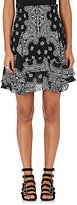 A.L.C. Women's Vera Bandanna-Print Silk Miniskirt-BLACK, WHITE, NO COLOR