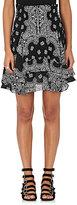 A.L.C. Women's Vera Bandanna-Print Silk Miniskirt-Black, White