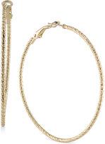 ABS by Allen Schwartz Gold-Tone Hoop Earrings