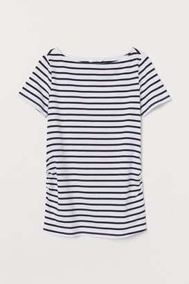 H&M MAMA Boat-neck T-shirt