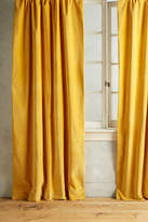 Anthropologie Matte Velvet Curtain