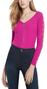 GUESS Tinash Ribbed Arm-Cutout Top