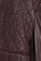 Muu Baa Muubaa Minsk quilted washed-leather biker jacket